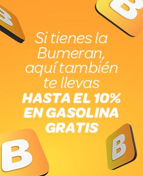 Hasta el 10% en Gasolina Gratis